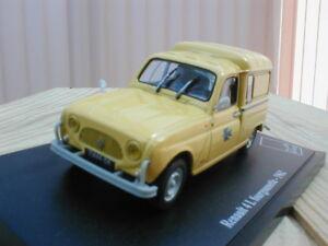 """RENAULT 4 L FOURGONNETTE """"PTT"""" 1962 1/43eme - France - État : Neuf: Objet neuf et intact, n'ayant jamais servi, non ouvert. Consulter l'annonce du vendeur pour avoir plus de détails. ... Année du véhicule: 1962 Caractéristiques: Bote fermée Marque du véhicule: Renault Marque: Atlas Type du vé - France"""
