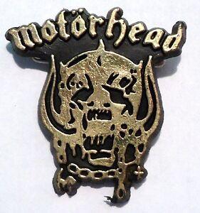 Vintage-Original-1980-039-s-Motorhead-Heavy-Metal-Rock-Band-Music-Badge-Lemmy