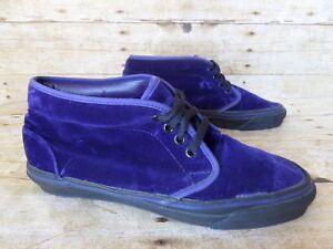 93bb5117d13b53 USA Vintage VANS Chukka Mid Purple Velvet Shoes Men s 8.5 Women s 10 ...