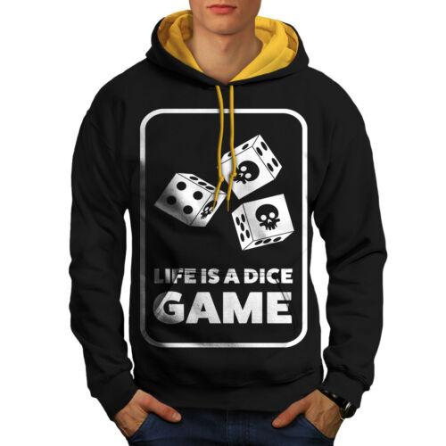 oro Men Game Funny New Bet Black cappuccio Skull Dice Hoodie Contrast IaPwvnSnqx
