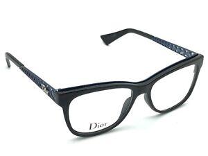 d634281c8b Image is loading Christian-Dior-DioramaO1-EMV-Black-Blue-Designer-Eyeglasses -