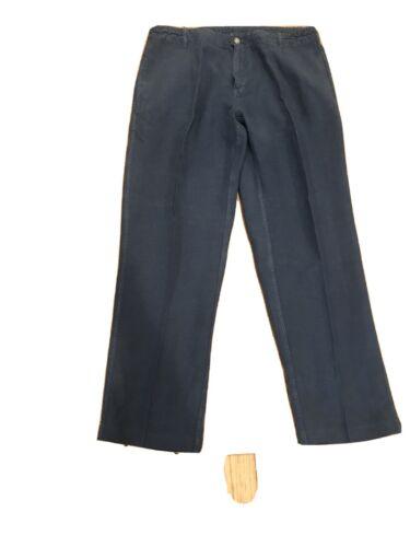 Vilebrequin Mens Linen Pants Blue Size  Large