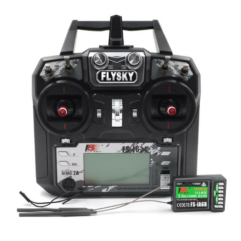 Flysky FS-i6X 2.4G 6CH RC Transmisor y receptor para vista en primera persona Drone ala fija