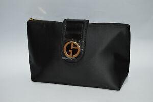 Giorgio Armani Black Pouch / Make Up Cosmetics Bag / Toiletry Bag