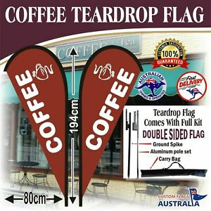 Brown-Coffee-Double-Sided-Teardrop-Flag-With-Full-Kit-Coffee-Flag