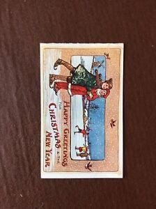 B8b-Ephemera-Edwardian-Christmas-Card-Happy-Greetings-Used-C243
