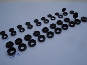 Lot de 100 cache vis noirs pvc pour écrou M12