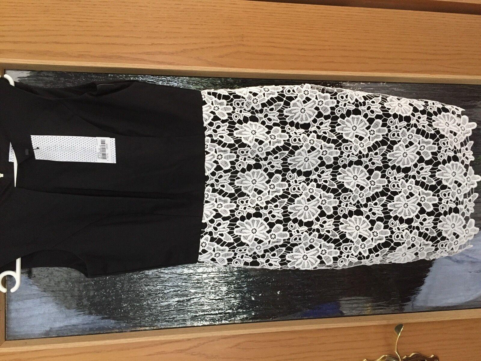 Paper Dolls London Kleid Gr. 40, Farbe schwarz weiß