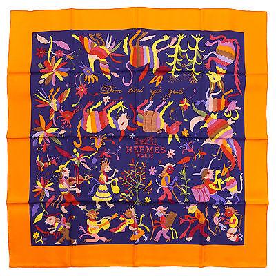 """§§§ foulard scarf carré Hermès neuf """" Din Tini Ya Zue """" §§§"""