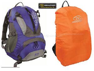 Highlander-Rucksack-Back-Day-Pack-Travel-Bag-Shoulder-Backpack-25L-Blue-Cover
