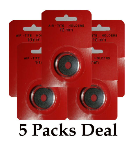 5 AirTite BLACK Ring Capsules 10mm For Mexican Maximillian Coins Safe Storage
