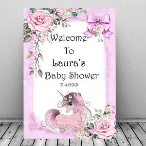 Personalised-Baby-shower-Welcome-Sign-Pink-Party-Decoration-Mum-To-Be-Party