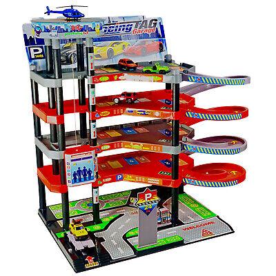 Parkgarage für Kinder 6 Ebenen Parkhaus Kinder Spielzeug