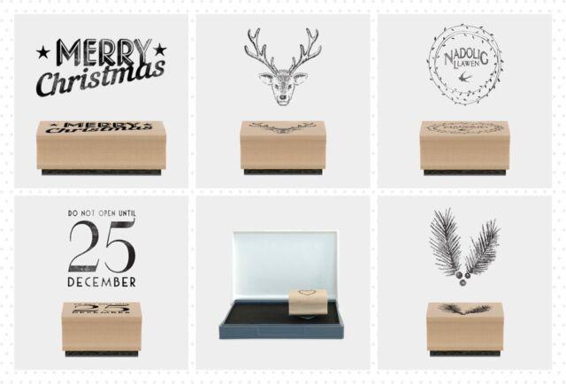 East of India Rubber Craft Welsh Design Stamp Nadolig Llawen Merry Christmas