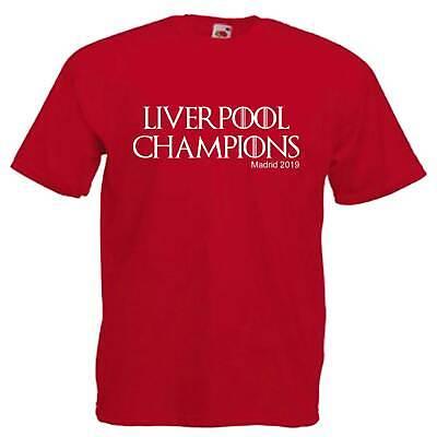 Liverpool Champions 2019 Children's Kids Bambino T Shirt- Gli Ordini Sono Benvenuti