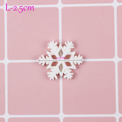 20Pcs Classic White Snowflake Ornaments Christmas Holiday Party Home Decoration