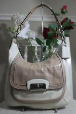 COACH KRISTIN BEIGE IVORY PYTHON CROC LEATHER CROSSBODY TOTE HANDBAG F22509