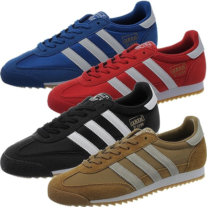 Adidas Dragon OG Zapatillas De Hombre Azul Rojo Negro Marrón Zapatos Informales Estilo Retro