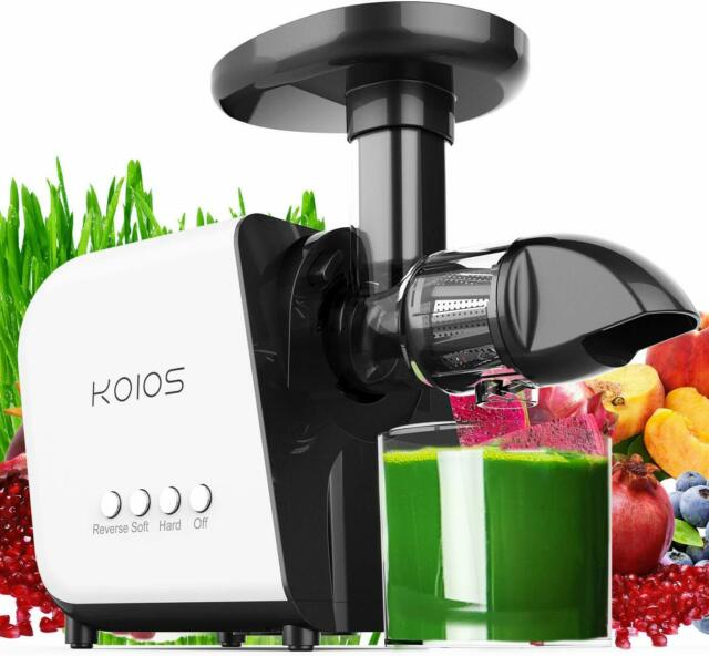 KOIOS Slow Masticating Juicer Machine Healthy Extractor Quite Motor Reverse Cold