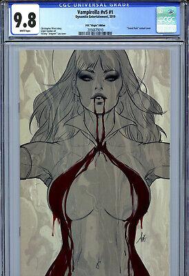 Dynamite CGC 9.8 White Watson Power Comics Virgin 2019 Vampirella #v5 #1