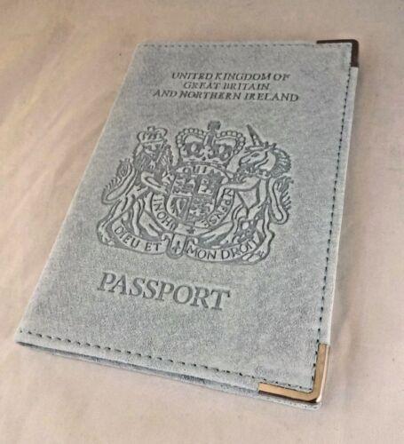 Porte-passeport AQUA Comme neuf Royaume-Uni de Grande-Bretagne et d/'Irlande du Nord