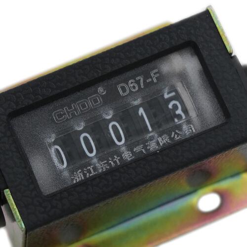 Contatore 0 ~ 99999 D67-F Meccanico Nuovo 5 cifre Tally Mano manuale Clic