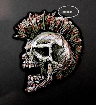 Mohawk Skull Punk Rock Rocker Hoodie Hooded Sweatshirt