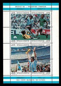 Diego-Armando-Maradona-sellos-Argentina-Mexico-86-futbol-football-stamps