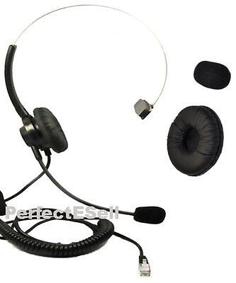Replacement Headset For Plantronics A100 T10 T20 T110 S11 S12 Telephone Black