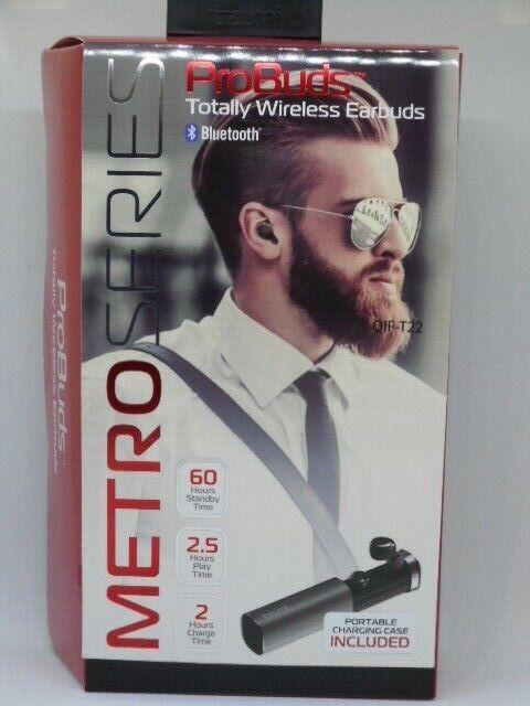 Tzumi 4877 ProBuds Metro Series Bluetooth Wireless Earphones Black
