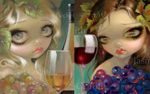 Jasmine Becket-Griffith SIGNED Spirits of the Vine Merlot Chardonnay 2 print set