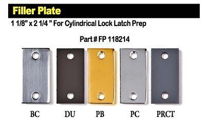 Cylindrical Filler Plate TUFF STRIKE Door Strike Plate Filler Filler Plate 1 1//8 x 2 1//4 Prime Coat