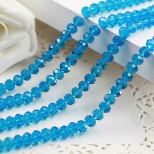 New Faceted 100pcs Rondelle glass crystal #5040 3x4mm Beads U pick colors