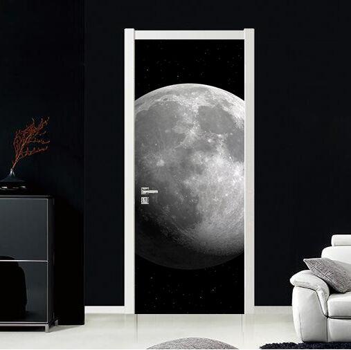 3D Der Mond 428 Tür Mauer Wandgemälde Foto Wandaufkleber AJ WALL DE Lemon