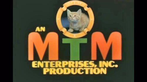 1970s Mary Tyler Moore Show MTM cat logo fridge magnet - new!