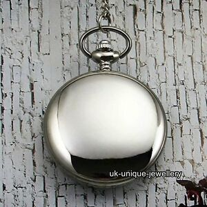 BLACK FRIDAY Silver Pocket Watch Necklace Xmas Gift For Him Dad Son Mens Husband - London, London, United Kingdom - BLACK FRIDAY Silver Pocket Watch Necklace Xmas Gift For Him Dad Son Mens Husband - London, London, United Kingdom
