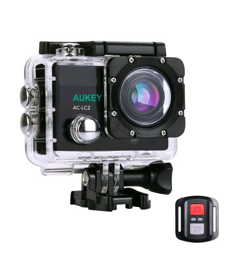 Sports Action Camera 4K Ultra HD Video Camera Waterproof w/Mounts Featured