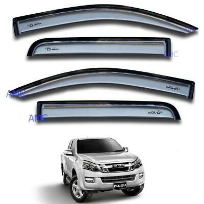For 12 Isuzu Holden Colorado Dmax D-Max Ute Visor Weather Guard 4 Doors Black