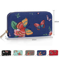 New Ladies Zip Around Boutique Butterfly Purse Women Money Card Girl Coin Wallet