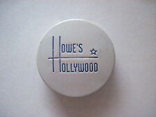 """Sweet 1920-30's Art Deco Little Hinged Tin Box Titled """"Howe's Hollywood"""" Rouge *"""
