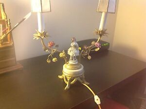 Image Is Loading ANTIQUE FIGURINE TABLE LAMP