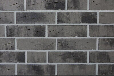 1 Nf-format Willensstark Klinker-riemchen Sorte Spaltklinker Braun-grau Mit Kohlebrand