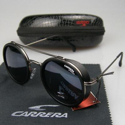 New Men Women Retro Sunglasses Sport Windproof Matte Frame Metal Carrera Glasses