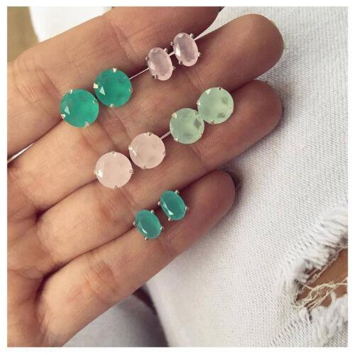 5Pairs//Set Boho Women Rhinestone Crystal Zircon Ear Stud Earrings Jewelry