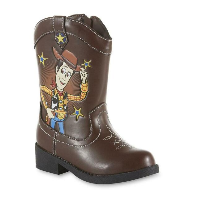 NEW Boys Toddler Disney TOY STORY 4 Woody Western Cowboy Boots 6 7 8 9 10 11 12