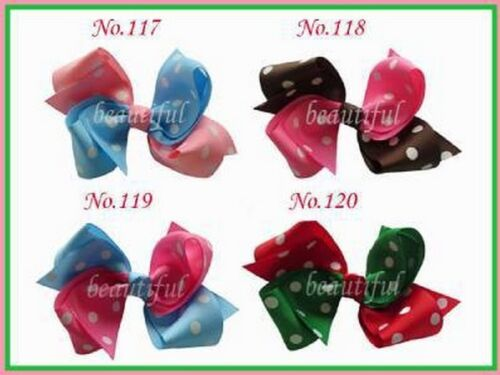 """Hairbow 30 BLESSING Good Girl Boutique 4/"""" Double tail Hair Bow Clip 296 No"""