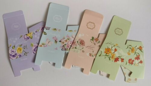 10 Floral Favour Boxes Wedding Birthday Baby Shower Sweet Box Includes Ribbon