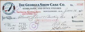 Bathing-Beauty-Vignette-1921-Montgomery-AL-Bank-Check-039-Georgia-Show-Case-Co-039