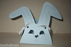 Baby Shower//Easter Bunny Rabbit Favour Gift Box x 10 Yellow Pearl Card.Eggs,