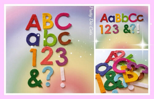 numbers punctuation marks for crafts 10 Die Cut felt letters